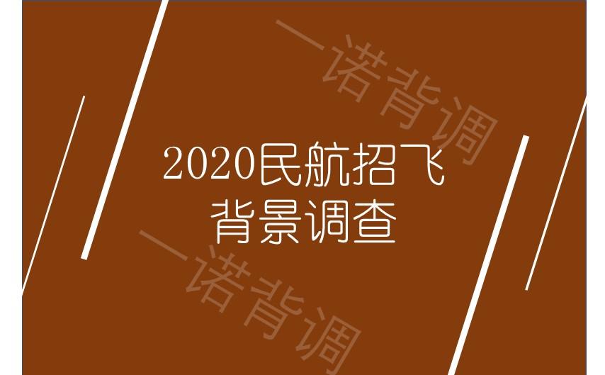2020民航招飞背景调查